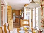 Stag Cottage has a handmade, beech kitchen with granite worktops.