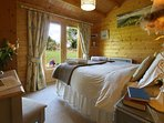 Very comfortable king size bed with fine linen and towels
