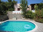 Villa Francesca, a secluded villa with walled and fenced private gardens and pool
