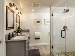 Lower Level | Master Bathroom- Stunning walk-in shower. Ample towels/ toiletries