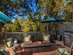Main Level | Deck- Features oversized BBQ, fire pit, ping pong table & umbrellas