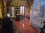 Casitas Kinsol Room #8 - An authentic Mayan hut with a thatched roof -  A large room with 2 beds