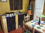 Casitas Kinsol Room #8 - The kitchenette area with a gas burner - NO microwave - NO dishwasher