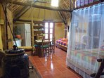 Casitas Kinsol Room #8 - An authentic Mayan hut with a thatched roof - A large room -