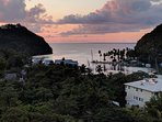 The sunsets over Marigot Bay and The Marina Village