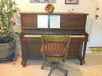 Wurlitzer piano (in tune!) in downstairs family room.