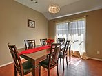 Gather with your family around this room dining room table.