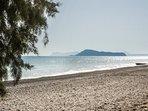 The Maleme beach and the island of Thodorou