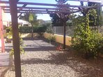 private garden with pergola not overlooked