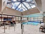 Enjoy the indoor/outdoor common area pool.
