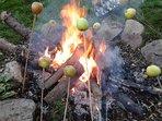 Manchmal machen wir mit den Gästen ein Feuer ... // Sometimes we make a bonfire with the guests ...