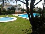 Communal pool and splash pool