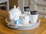 Welcome tea tray.