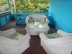 Our UpFront Deck Lounge with sea view