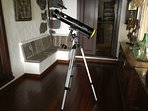 Our telescope for guests to enjoy.