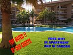 Tropical garden with swimming pool. Free WIFI allover