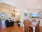 Large dining room, plenty of space to entertain the family for dinner.