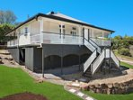 Front view of Watson House. A lovely hilltop setting in a quiet country lane so close to Maleny
