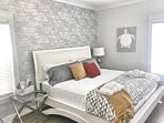 Uniquely Decorated Room with Brick Wallpaper