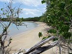 Private Beach walking distance on Villa Taina