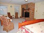 Main Level Bedroom, King Bd, Futon, Duralog Firepl