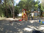 Playground for children near the house