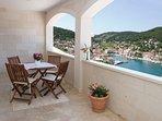 Terrace, outside furniture, terrace view, apartments Pucisca, Pucisca, Brac Island
