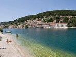 Clear sea water, beach, Pucisca, Brac Island