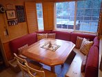 Breakfast room with banquette - Seats 8-10