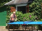 Table tennis on the sun terrace