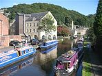 The marina and canal in Hebden Bridge