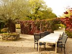 you might prefer to eat out in the courtyard, which is a real sun trap