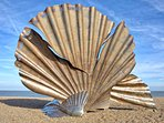 Scallop shell sculpture, Aldeburgh beach