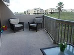 Patio furniture for the whole family to enjoy - you can hear the ocean waves!