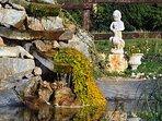 Bassin dans le jardin avec sa cascade