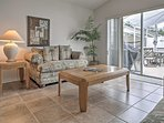 The sliding doors in the second living area provide easy access to the wonderful lanai!