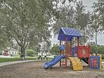 Let the kids run off their energy on the community playground.