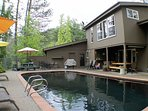 Pool with Upstairs Master windows above