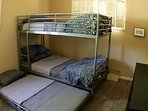 Bunk Room showing 3rd bed