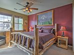 You're guaranteed to find a restful night of sleep on the master bedroom's king-sized bed.
