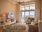Flatscreen and a View of the Beach