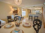 Dining Area with Bar Stool Seating