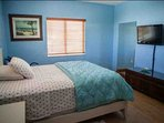 Second guest bedroom with a queen bed and flat screen TV