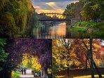 My neighborhood: Central Park & pedestrian metal bridge (podul Paris)