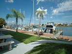 Bayside boat dock area