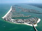Ariel view of Clearwater Beach