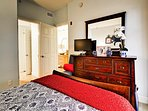 Fully furnished bedrooms, each with its own TV