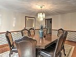 Enjoy family meals at the elegant dining table.