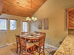 Gather around the lovely dining table to savor every bite of your tasty homecooked meals.