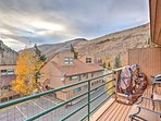 Have a cookout on the private balcony overlooking scenic mountain views.